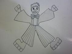 Le clown acrobate - Les créations déco de Marsouille