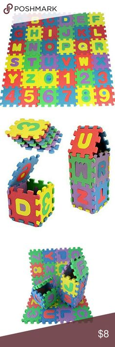 Kids Alphanumeric Educational Puzzle ✓COLORFUL & BEAUTIFULl: mini PUZZLE mats contain 10 numbers from 1-10 and a total of 26 letters of the alphabet from A-Z designed colorful and beautiful will help children IMPROVE their VISION, MEMORY and INTELLIGENCE.  Meets Safety Standards,soft and durable Features: 100% brand new, high quality. Size: 17.8*13.5*1.7cm (4.5*4.5*1.7cm each pad) Other