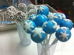holiday snowflakes and swirls