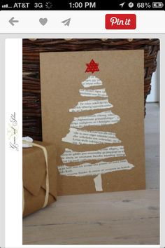 These torn paper tree cards. - Christmas Fun - These torn paper tree cards. Diy Christmas Cards, Noel Christmas, Christmas Ornaments, Christmas Music, Homemade Christmas Tree, Diy Christmas Invitations, Paper Christmas Trees, Recycled Christmas Gifts, Diy Christmas Wrapping Paper