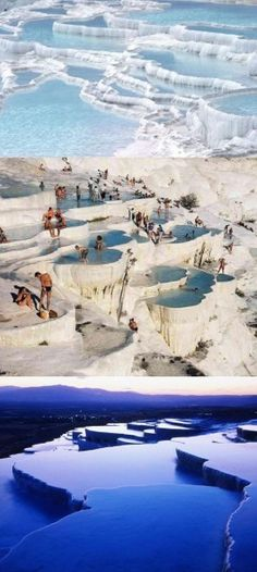 Natural Infinity Pools of Pamukkale, Turkey