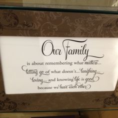 Our family is about....