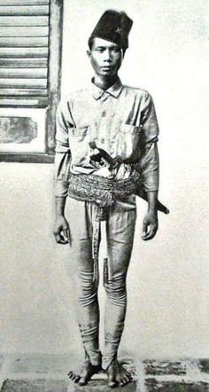 A Moro Policeman. Circa 1900