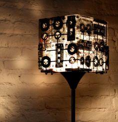 Kassetten Wiederverwendungen lampe idee