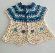 Easy Scarf Knitting Patterns, Baby Knitting Patterns, Crochet Patterns, Cotton Crochet, Crochet Shawl, Girl Doll Clothes, Girl Dolls, Vestidos Bebe Crochet, Crochet Woman