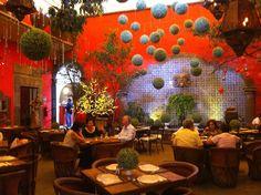 Guadalajara, MX restaurant in the upscale Tlaquepaque district.