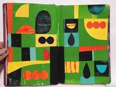 Kevin Mercer @thelargemammal // Scraps #drawswithscissors #sketchbook #collage #illustration #cutpaper #artistsoninstagram