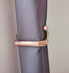 Add Something A Little Extra To Your Space With These Pure Copper Pipe Curtain Ties Backs!