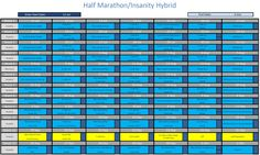 Insanity / Half Marathon hybrid training schedule