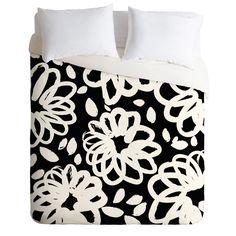 Budi Kwan Blossom Mono Duvet Cover | DENY Designs Home Accessories