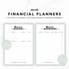 PLANNER ESSENTIALS - FINANCIAL PLANNERS - THE HARLOW PLANNERS IN ROADSTER  Take the headache out of managing your finances and reach your financial goals with these simple financial planners! Plan your income and spending with the monthly budgets, and easily see how much you can save. Then use the expense tracker to record actual expenses - file it on the front of your monthly bills for a fantastic summary at tax time!  > SPEND $20 AND GET 20% OFF!!! JUST USE CODE PERFECTPLANNER  > FEATURES…