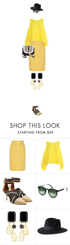 """eva 0452"" by evava-c on Polyvore featuring Oscar de la Renta, Pleats Please by Issey Miyake, Malone Souliers, Spitfire, Bounkit, Maison Michel and Ashley Stewart"