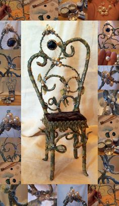Whimsical Chairs How cute! for fairies and elves.                                                                                                                                                                                 More