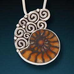 Moroccan ammonite necklace