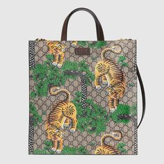 Gucci Bengal soft GG Supreme tote - Gucci Men's Totes 450950K5N1T8651