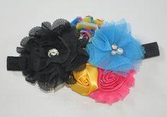 Black headband,baby girl gift, Multicolour Headband,Pink Shabby Chic Toddler headbands,Newborn headband,Infant headband,Casual headband,Bows