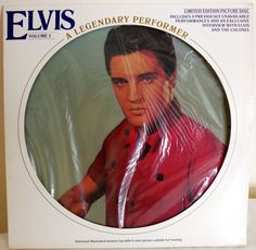 ELVIS PRESLEY V. 3 Legendary Perfomer Picture Disc & Booklet RCA CPL1-3078  #RocknRollRockabillyPsychobilly