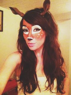 BEST deer costume makeup i've seen so far