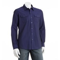 Marc Anthony Slim-Fit Military Casual Button-Down Shirt - Men - product - Product Review