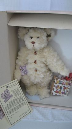 Good Condition Goldie The 50th Golden Angel Bear Angel Bear Annette Funicello
