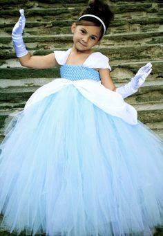 Cinderella costume  When she's older... I think I could make this!