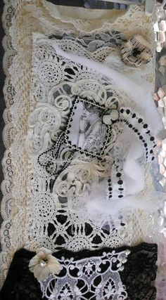 Shabby Chic Black and White Wall Collage Now on Sale - $34.00 - Handmade Home Decor, Crafts and Unique Gifts by Victorianshabbyshop.com