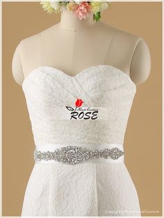 Strapless Sweetheart Embroidered Lace Mermaid by RoseHauteCouture