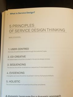 5 principles of Service Design Thinking