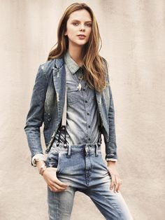 Denim on denim: otherwise known as the Texas tuxedo. From : Teen Vogue