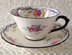 Antique Chelson China  Tea cup and Saucer by TheEclecticAvenue, $34.99