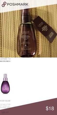 Alterna Caviar miracle multiplying volume mist Brand new, 4.8 oz is 36, after s&h this is right under 1 oz. Offers are welcome PLEASE no lowball offers, instead bundle... and /or make an offer on a bundle :)  Will work with you! ! Alterna Haircare  Other