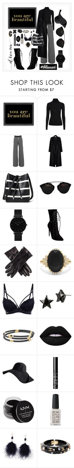 """""""you are beautiful in black"""" by stylinslays ❤ liked on Polyvore featuring Americanflat, Topshop, Lauren Ralph Lauren, Christian Dior, CLUSE, Steve Madden, Black, Effy Jewelry, Betsey Johnson and Lagos"""