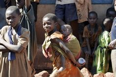 Children Play in Streets of Village in Tanzania   by United Nations Photo