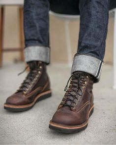 Herbhandler.cc Brown Boots Outfit, Mens Brown Boots, Tall Boots, Shoe Boots, Fashion Boots, Mens Fashion, Herren Outfit, Boot Cuffs, Leather Shoes