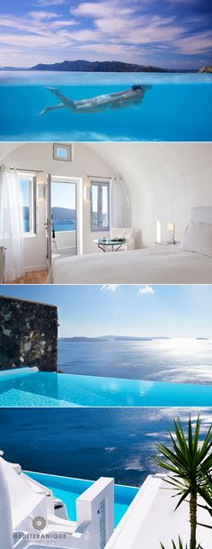 The Katikies Hotel, on the edge of the cliffs of Santorini with unbeatable views