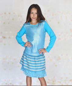 Another great find on #zulily! Turquoise Chelsea Skirt & Top - Infant, Toddler & Girls by Jelly the Pug #zulilyfinds