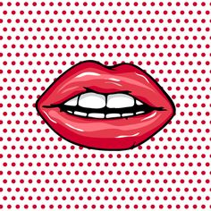 Sweet Pair of Glossy Vector Lips on Behance