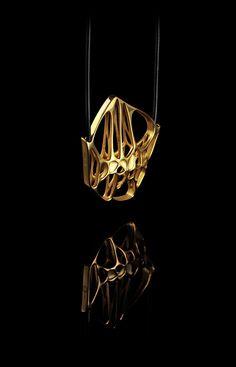 FL-o-WEN | Specimens collection | HEXA gold necklace |