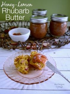 An incredible, easy, 3 ingredient rhubarb butter sweetened with honey and flavored with lemon that may just change the way you think about rhubarb.