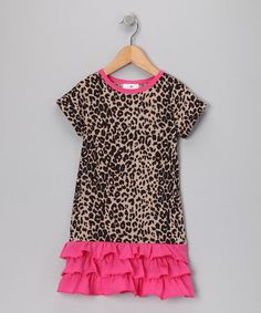 Take a look at this Leopard Drop-Waist Dress - Infant & Toddler by Hula Mula on #zulily today!