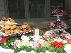 Sandwich Bar: Our Reception meal FOR SURE....But on a much larger scale: cheeses, meats, olives, peppers, dressings...Mmmmm, hurry up wedding, HELLOOO reception!  #DBBridalStyle