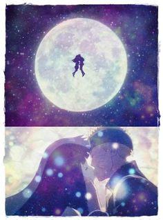 """But I'd trade it all On a night a like this For your loving arms And a moonlight kiss"" NaruHina Naruto: The Last Movie"