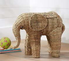 Shaped Elephant Storage   Pottery Barn Kids