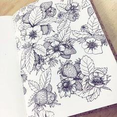 Inspirational floral tattoo drawings - definitely my favourites this week!