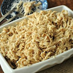 All-Purpose Slow Cooker Shredded Chicken recipe. **I finally made this and OMG, it is so good! Tastes like Thanksgiving turkey. **