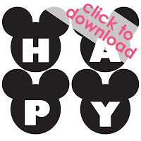 Free Mickey Mouse Happy Birthday Banner Printable