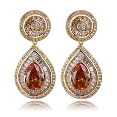 Teardrop Dangle Earrings - Shop With Bitcoin