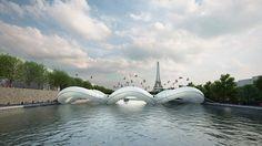 #France #Paris #Trampoline Bridge