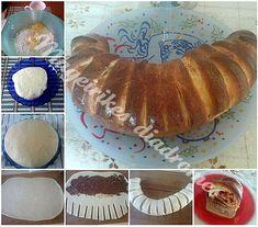 Γλυκό ψωμάκι με μερέντα Bread Recipes, Breakfast, Food, Vase, Morning Coffee, Meals, Morning Breakfast
