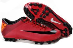 premium selection 5be78 c4d71 New Discount Nike Jnr Mercurial Victory II AG Artificial Grass Soccer Cleats  Red Black Orange